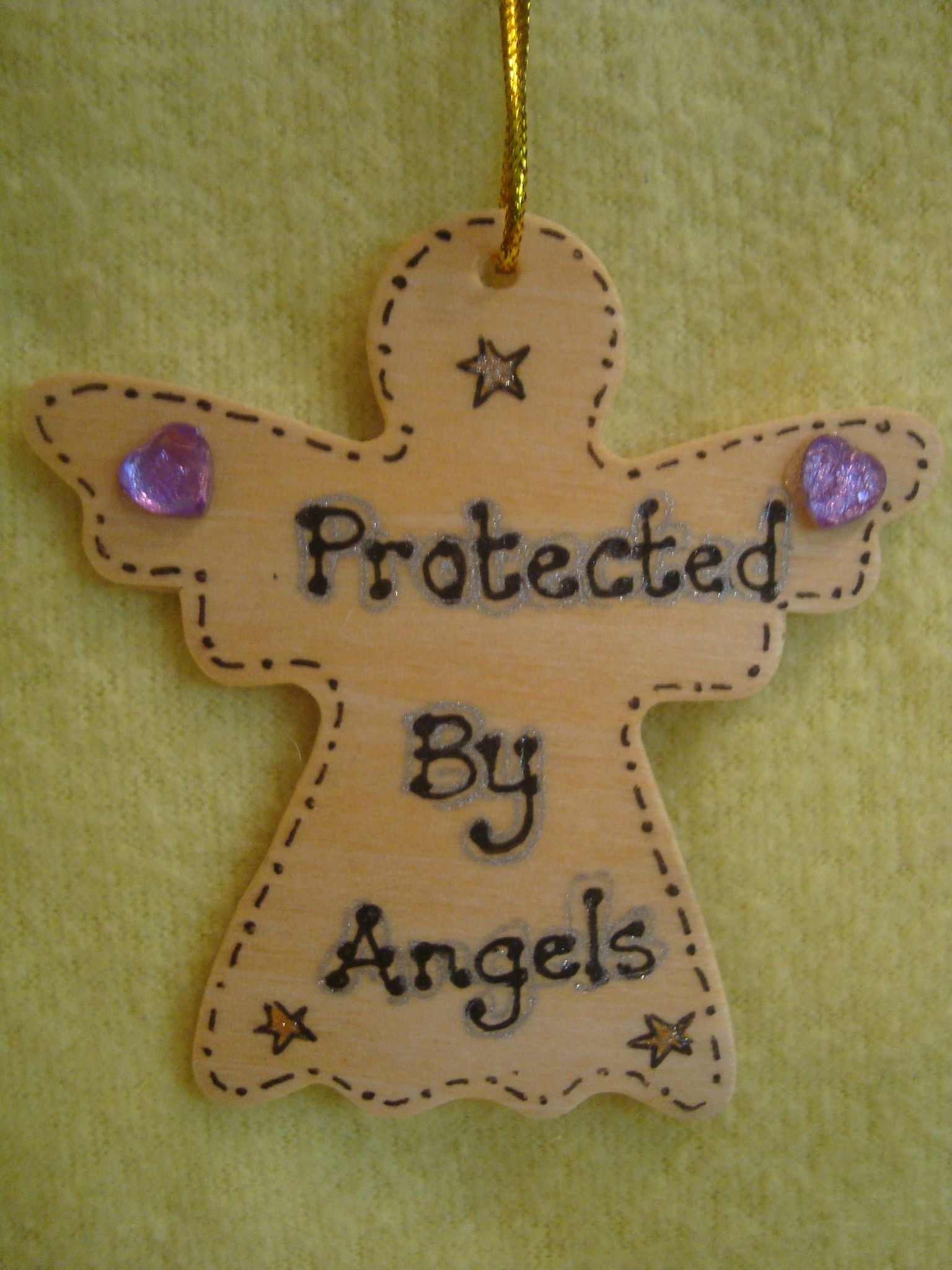 Sale Was 199 Protected By Angels Inspirational Angel Wooden Hanger Sign Ready To Despatch Handmade Unique Shabby Chic Item