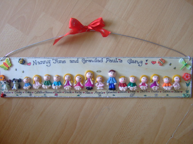 19/20 CHARACTER LARGE PERSONALISED 3d  FAMILY / TEACHER SIGN PLAQUE PEOPLE PETS