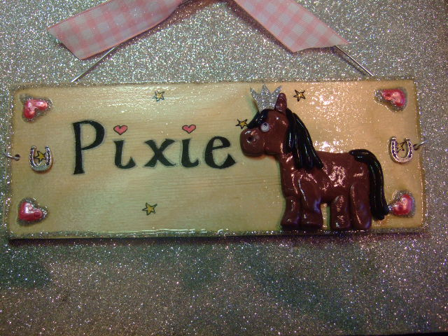 3d Personalised Horse Pony Stable Bedroom Paddock Home House Sign Unique Any Phrasing Handmade Unique