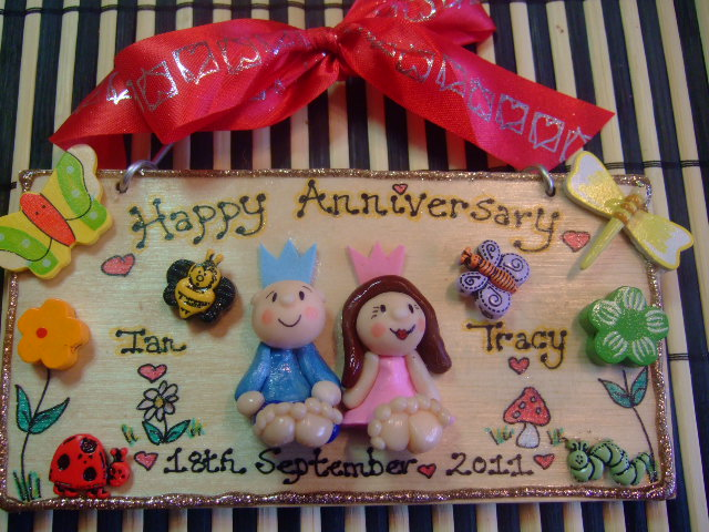 Unique Ruby Wedding Anniversary Gifts: Happy Anniversary 2 Character Personalised 3d Sign