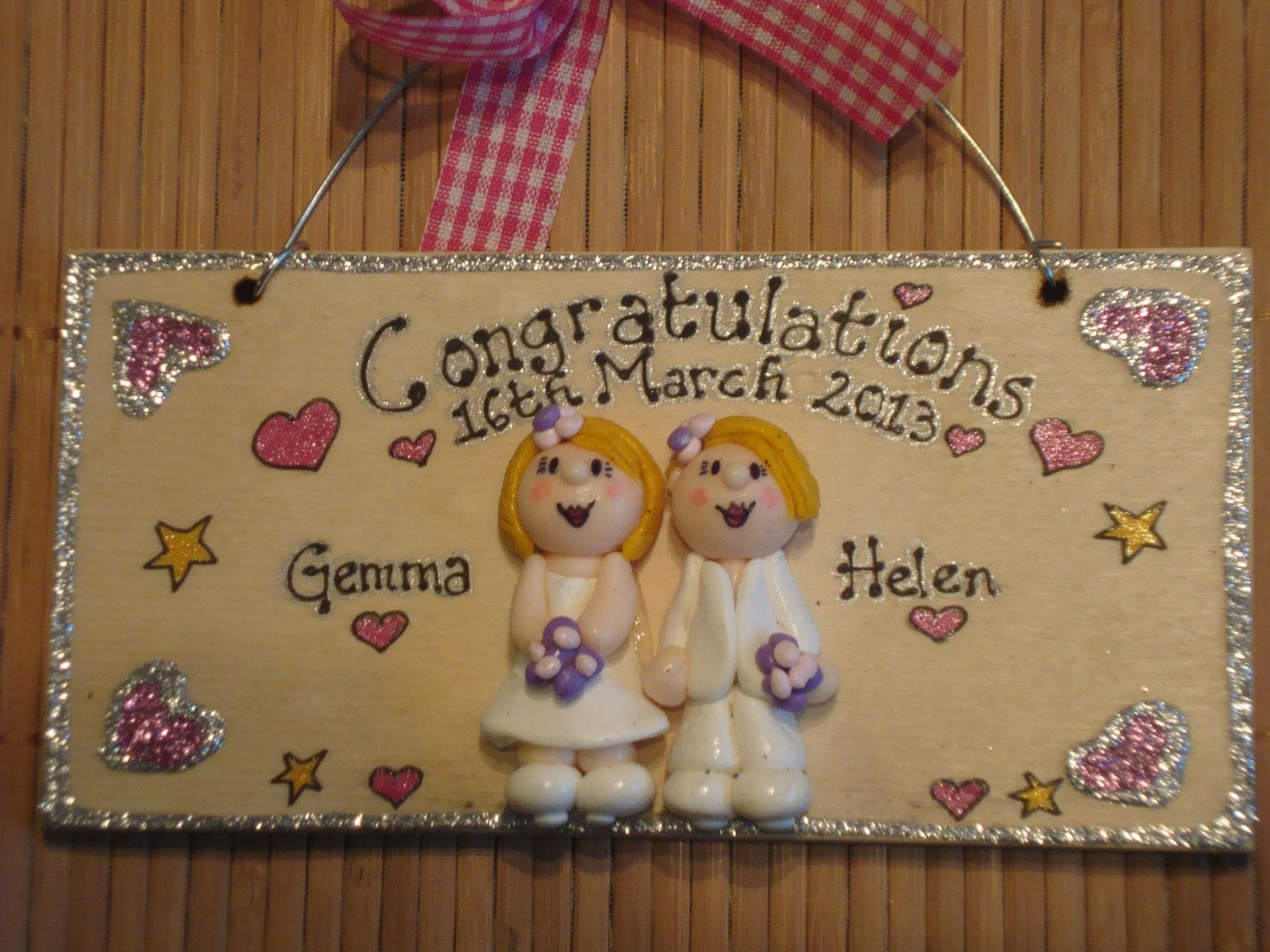 On Our Your Wedding Day Civil Ceremony Anniversary Personalised 3d Sign Personalised Handmade Gift Keepsake Gift