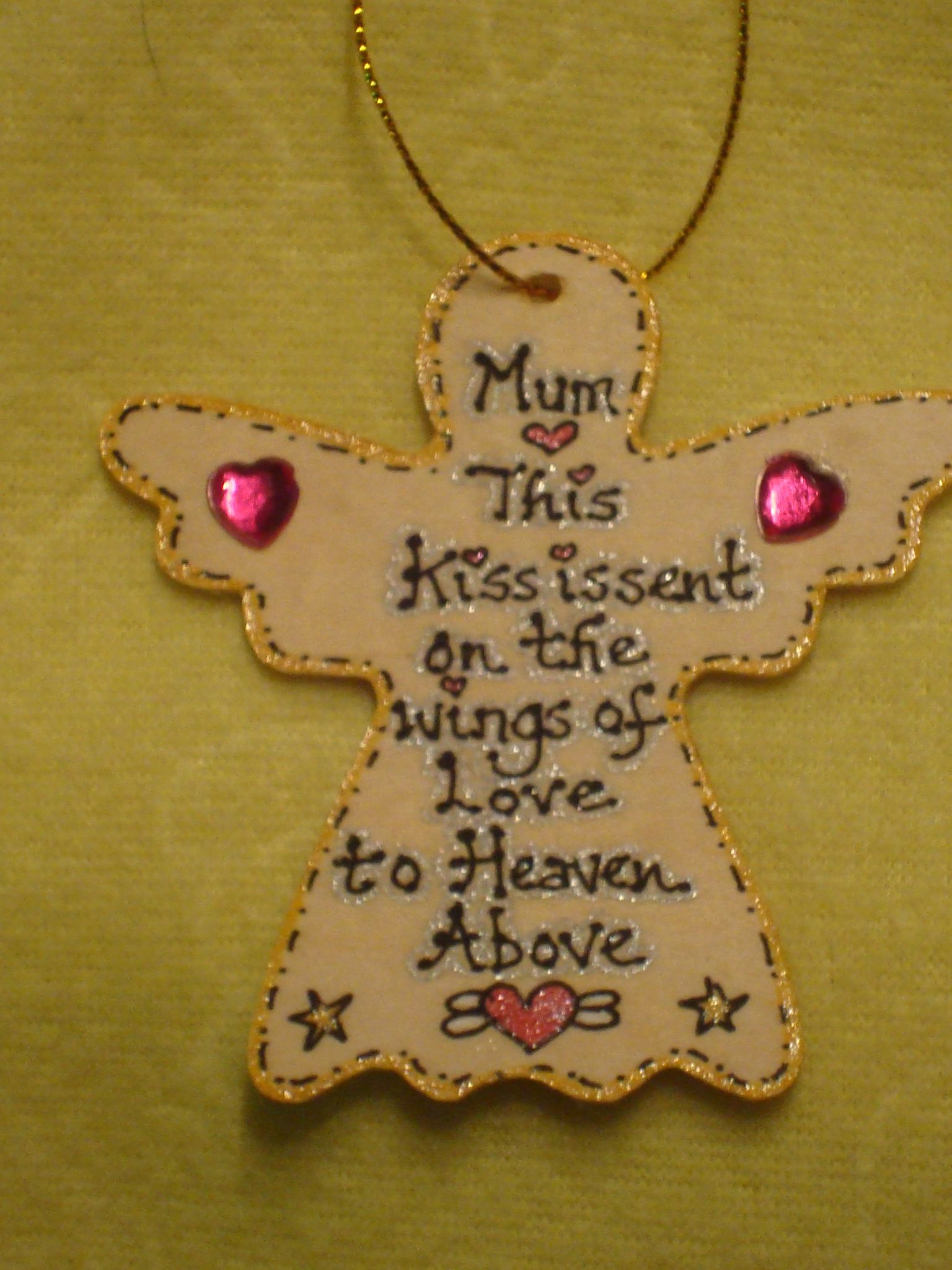 Personalised Wings Of Love Valentine Memorial Angel Wall Garden ...
