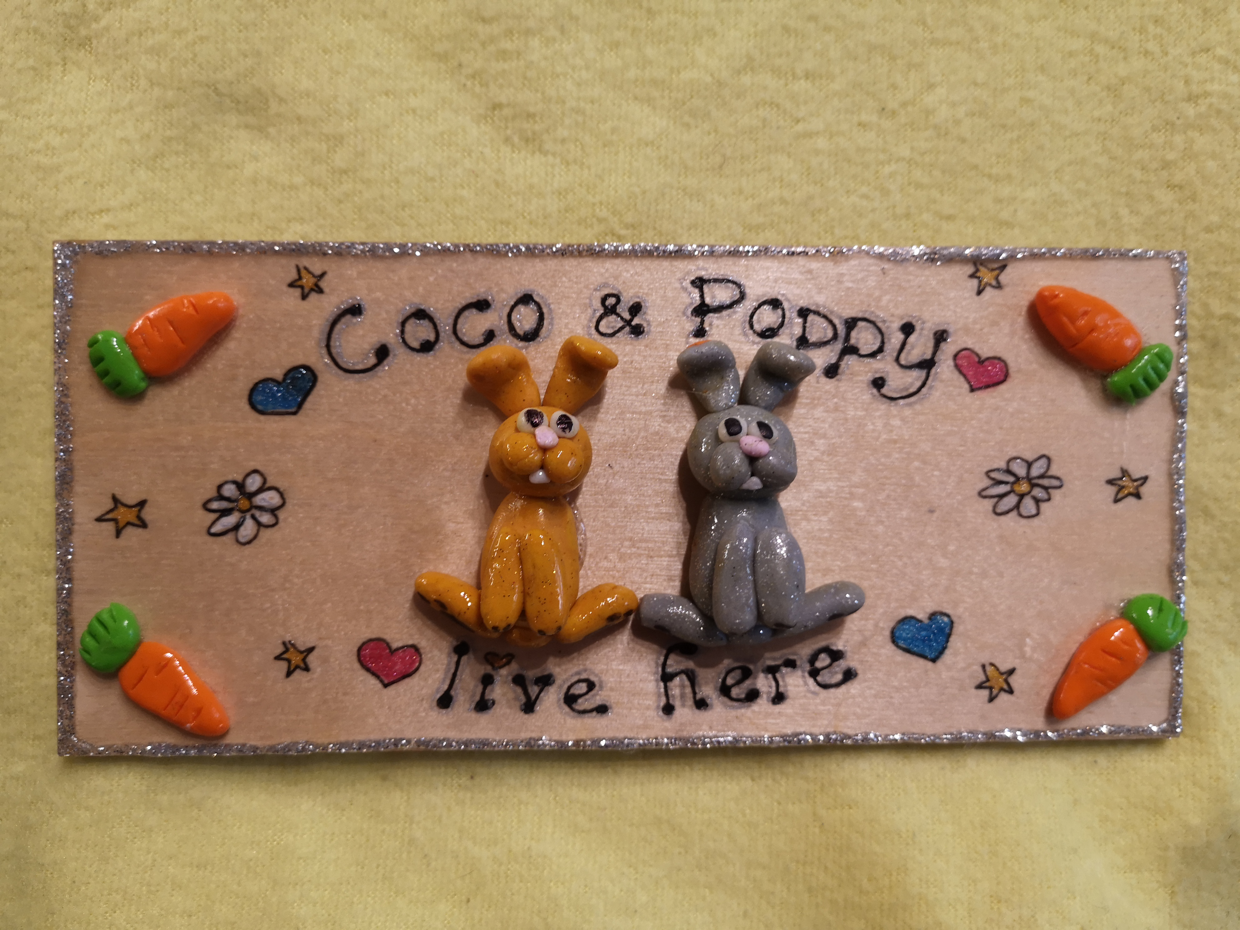 3d pet signs rabbits guinea pigs